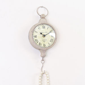 Antique Wall Clock With Hook - clocks