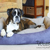 Luxury Faux Suede Dog Bed - pets