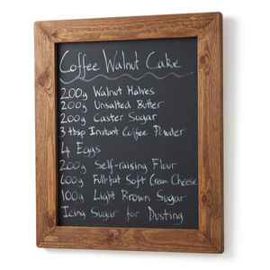 Old Wood Framed Magnetic Chalkboard Blackboard - kitchen