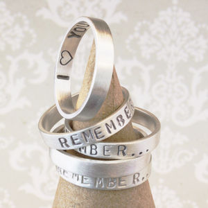 Personalised 'Remember…' Your Story Ring - gifts for her
