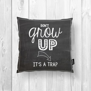 Kids Cushion, Inspiring Quotes, Two Sided. 100 Colours