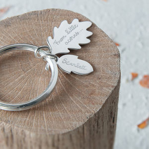 Personalised Acorn Key Ring