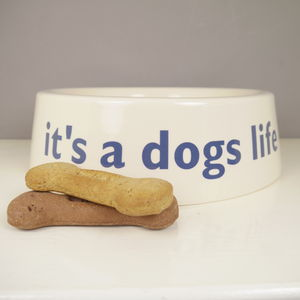 It's A Dog's Life China Dog Bowl - pets sale