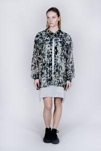 Camo Print Billow Shirt Dress