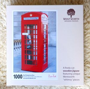 Telephone Box 1000 Piece Wooden Jigsaw With Whimsies