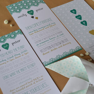 First Comes Love Wedding Invitation