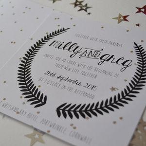 Under The Stars Wedding Invitation