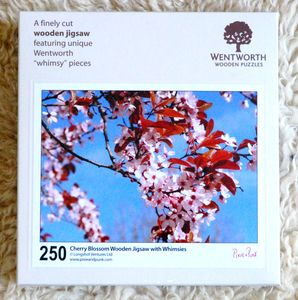 Cherry Blossom Adult Wooden Jigsaw With Flower Whimsies
