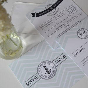Oh Buoy Nautical Wedding Invitation