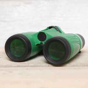 Childrens Green Binoculars - outdoor toys & games