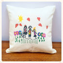 Cushion Printed With Your Child's Drawing