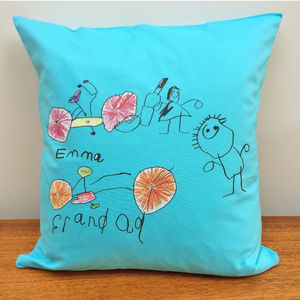 Cushion Printed With Your Child's Drawing - baby's room