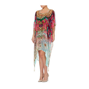 Jewel Print Kaftan Dress - kaftans & cover-ups