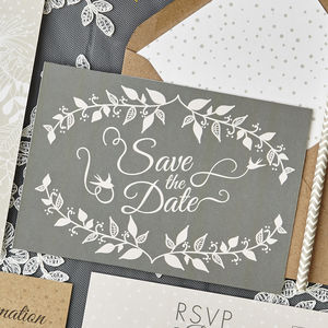 Whimsical Wonderland Save The Date - wedding stationery