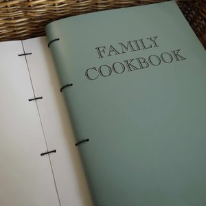 A4 Leather Family Cook Book