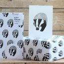 Badger Gift Wrap With Tags
