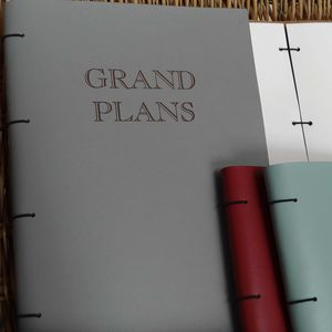 Grand Plans A4 Leather Book