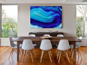 At One, Blue Abstract Canvas Art - art & pictures