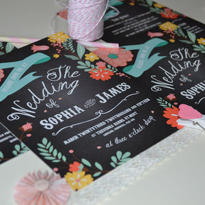 Perfectly Floral Wedding Invitation - invitations