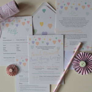 Pastel Rainbow Wedding Invitation