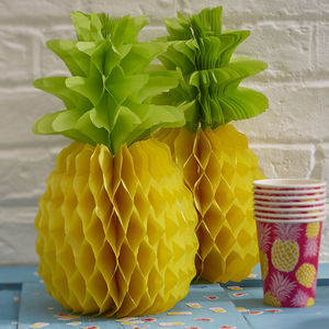 Pack Of Two Honeycomb Pineapples - home sale