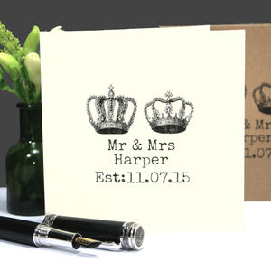 Personalised 'Mr And Mrs' Wedding Or Anniversary Card - wedding cards
