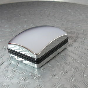 Silver Cufflink Box - cufflink boxes & coin trays