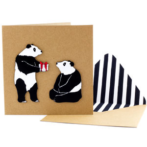 Birthday Pandas Personalised Card - birthday cards