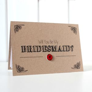 Personalised 'Be My Bridesmaid' Wedding Day Card - be my bridesmaid?