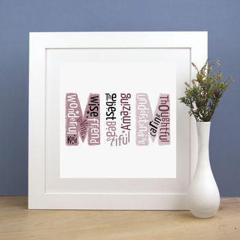 Personalised 'Mum' Print