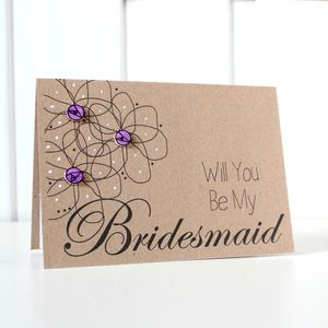 'Be My Bridesmaid?' Floral Wedding Day Card - be my bridesmaid?