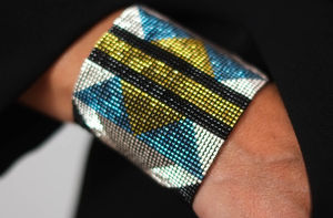 Geometric Cuff Bracelet - summer jewellery