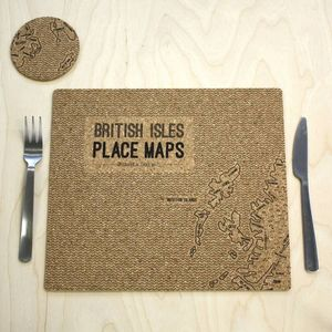 British Isles Cork Placemats - placemats & coasters
