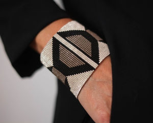 Hand Woven Large Cuff Bracelet - clothing & accessories
