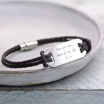 Personalised 'You Are The…' Men's Bracelet
