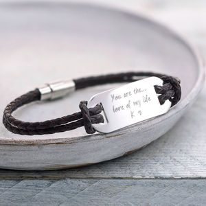 Personalised 'You Are The…' Men's Bracelet - 30th birthday gifts