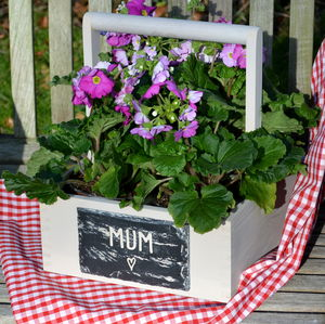 Engraved Slate And Wood Crate For Mum Or Mummy - storage & organisers