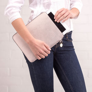 Personalised Soft Metallic iPad Case - off to university