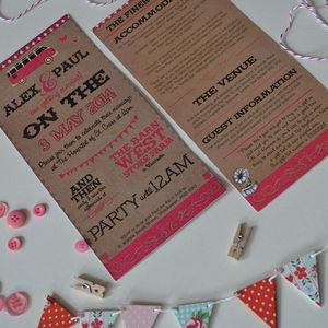 Devon Barn Vintage DIY Wedding Invitation