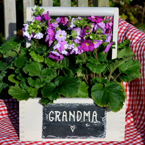 Engraved Slate And Wood Crate For Granny Or Grandma