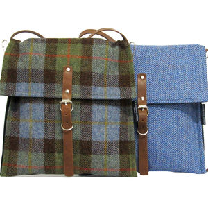 Dandy Messengers In Harris Tweed - bags & purses