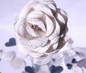 50 Shades Of Grey Book Page Rose