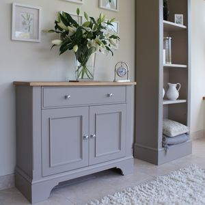Baslow Slimline Sideboard In Choice Of Colours And Size - furniture