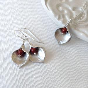 Calla Lily Jewel Jewellery Set