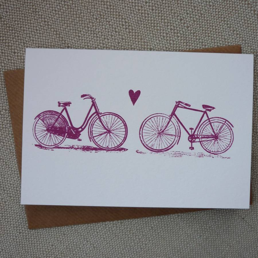 Bicycle Love Card By Mr Ps Notonthehighstreet Com