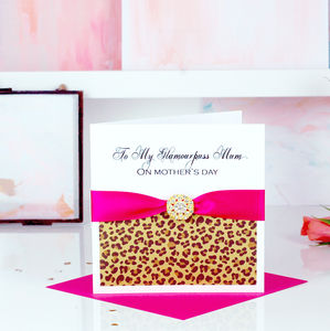 Leopard Print Mothers Day Card - mother's day cards & wrap