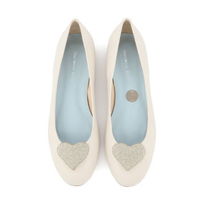 Anabel Heart Detail Flat Wedding Shoes - what's new