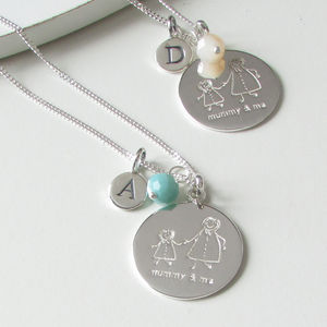 'Mummy And Me' Personalised Charm Necklace