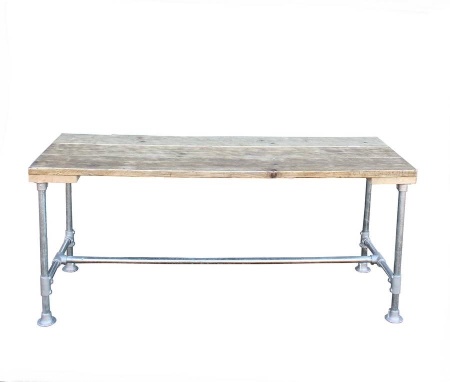 industrial dining table by salvation furniture notonthehighstreet