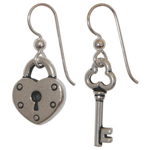 Dollydagger Key To My Heart Earrings - earrings